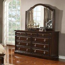 Caprivi 9 Drawer Dresser with Mirror