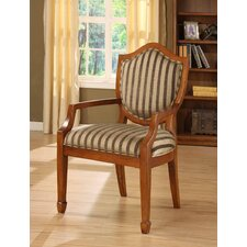 Occasional Stripe Fabric Arm Chair