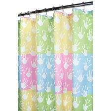 Watershed Prints World Hands Shower Curtain