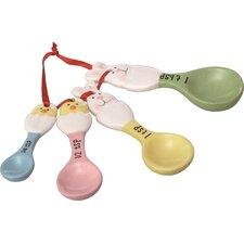 4 Piece Bunny Measuring Spoon Set