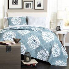 Sophie 3 Piece Reversible Coverlet Set
