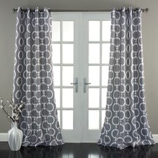 Chainlink Window Curtain Panel (Set of 2)