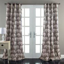 Elephant Parade Curtain Panel (Set of 2)