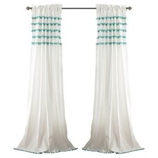 Aria Pom Pom Single Curtain Panel