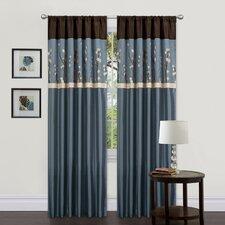 Cocoa Blossom Rod Pocket Curtain Panel (Set of 2)