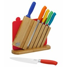 Kinzie Colors 9 Piece Knife Block Set