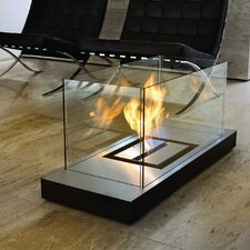 Matte Black Uni-Flame Ethanol Fireplace