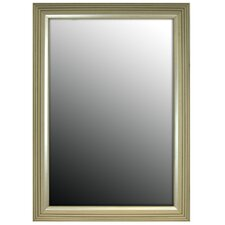 Stepped Silver Petite Framed Wall Mirror