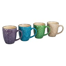 4 Piece 15 oz. Wallpaper Mug Set (Set of 4)