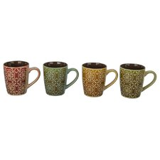 4 Piece Madrid Fashion Mug Set (Set of 4)