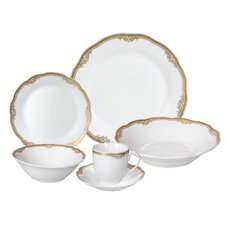Catherine 24-Piece Porcelain Dinnerware Set (Set of 24)