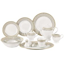 Anabelle Porcelain 57-Piece Dinnerware Set (Set of 57)