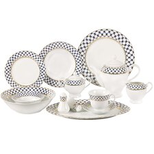 Jeanette 57-Piece Porcelain Dinnerware Set (Set of 57)