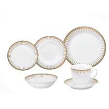 Aria Porcelain 24 Piece Dinnerware Set
