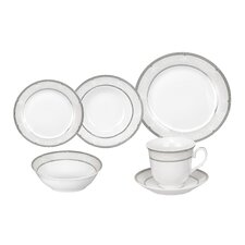 Ballo Porcelain 24 Piece Dinnerware Set
