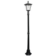 "Solar LED Powered 1 Light 80"" Post Lantern Set"