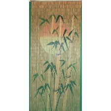 Sun Bamboo Silhouette Single Curtain Panel