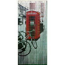 Retro Phone Booth Single Curtain Panel