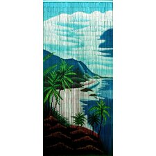 Tropical Clifts Single Curtain Panel