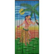 Dancing Hula Girl Single Curtain Panel