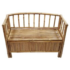 Natural Bamboo Storage Bench