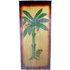 Natural Bamboo Banana Tree Scene Single Curtain Panel