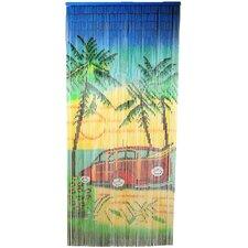 Natrual Bamboo Woody Car Scene Single Curtain Panel