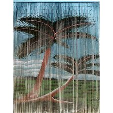 Natural Bamboo Double Palm Tree Single Curtain Panel