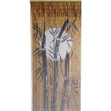 Bamboo Tree and Moon Single Curtain Panel