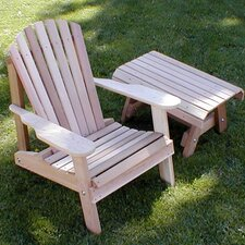 Cedar American Forest Adirondack Chair and Table Set
