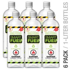 Smart Fuel Liquid Bio-ethanol Fuel Bottle (Set of 6)