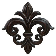 Quebec Wall Decor in Distressed Black