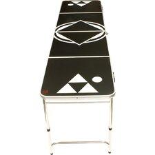 Black Beer Pong Table in Standard Aluminum