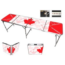 Canada Beer Pong Table in Black Aluminum