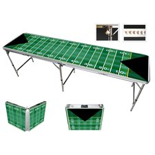 Football Beer Pong Table in Black Aluminum