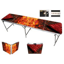 Lava Beer Pong Table in Black Aluminum