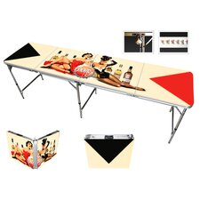 Pin Up Girls Beer Pong Table in Standard Aluminum