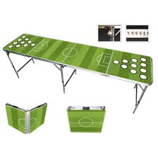 Soccer Sports Beer Pong Table in Black Aluminum