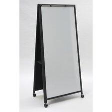 "Mobile Reversible Whiteboard, 6' H x 2'6"" W"