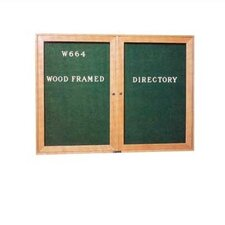 Wide Wood Framed Directory Wall Mounted Letter Board, 3' x 4'