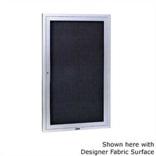 """Large Contemporary Series (4"""" Housing) Wall Mounted Bulletin Board with Cork"""