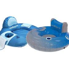 Kelsyus 2 Piece River Rider Pool Lounger/Tube Set