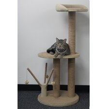 "46"" Cat Tree with Multiple Teasers and Sisal Posts"