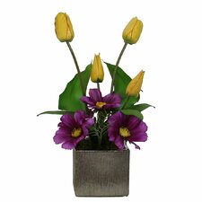 Floral Spring Arrangement in Square