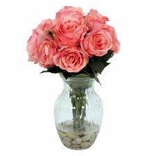 Floral Rose Arrangement in Vase