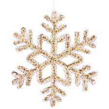 Snowflakes Crystal Christmas Ornament