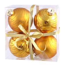 Assorted Ball Christmas Ornament (Set of 4)