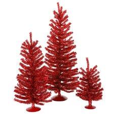 Mini Décor Red Mini Tree Set