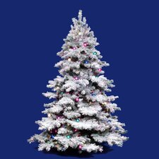 Flocked Alaskan 3' White Artificial Christmas Tree with 100 Dura-Lit Clear Lights