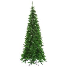7.5' Green Tinsel Slim Christmas Tree